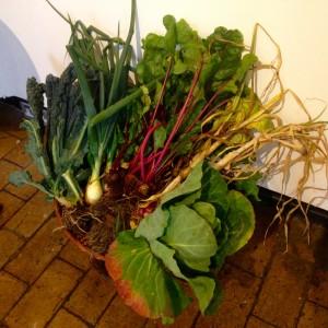 Vegetables at the Blue Soil Shrine