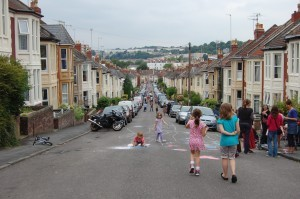 Playing Out grew out of discussions amongst friends and neighbours with young children, living in a built-up, residential area of south Bristol. Image taken from Playing Out.