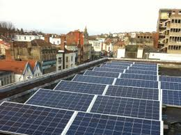Solar panels on the roof of a landmark community building, Hamilton House, Stokes Croft (Image from CSE website)