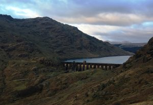 Sloy Dam in Scotland