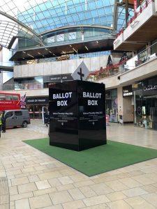 Giant ballot box